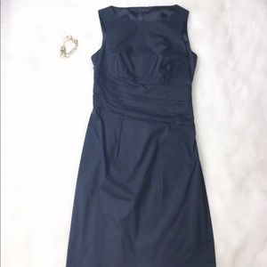 🌸SISLEY NAVY BLUE SLEEVELESS DRESS SIZE: XS